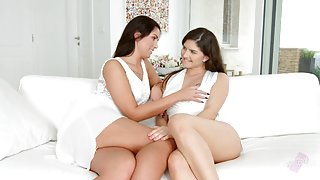 Lauren Minardi and Francesca Dicaprio - lesbian scene by
