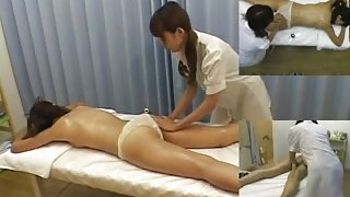Japanese cutie enjoys oily massage session on hidden camera