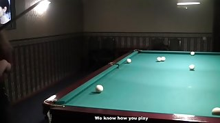 Woman with tiny whoppers fuck at pool