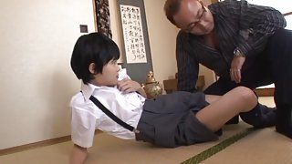 Naughty schoolgirls Naho Hazuki hot friend in threesome