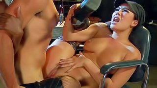 London Keyes and Ana Foxxx are horny as hell female soldiers. They get their pussies fucked silly by hot guy. Watch asian slut and hot ebony lady get their twats banged after double BJ
